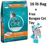 Purina ONE Healthy Metabolism Adult Premium Cat Food (1 Bag - 16 lb. + Free Toy)