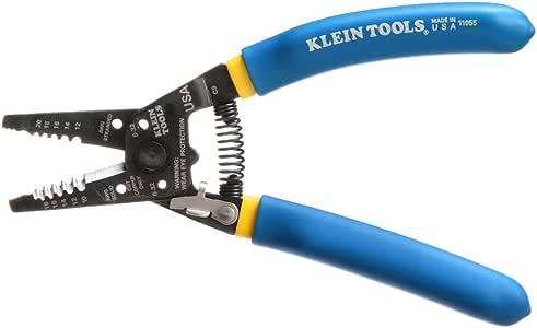 Klein Tools 11055 Wire Cutter and Wire Stripper, Stranded Wire Cutter, Solid Wire Cutter, Cuts Copper Wire
