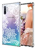 Cutebe Case for Galaxy Note 10 Plus, Shockproof Series Hard PC+ TPU Bumper Protective Case for Samsung Galaxy Note 10 Plus/5G 2019 Release Crystal Lace Design
