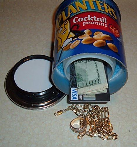 Planters Cocktail Peanuts Diversion Can Safe Stash Box Metal Piggy Bank