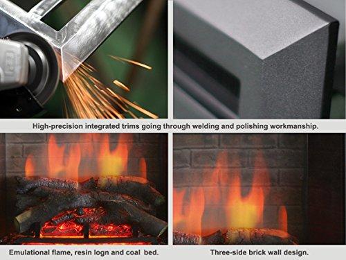 "PuraFlame 26"" Fireplace Insert Remote Control, 750/1500W,"