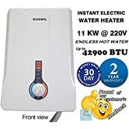 Electric Tankless Water Heater Instant On-Demand 11KW @ 220V - 12.6KW @ 240V - 2.9 GPM RW126