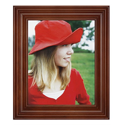 RPJC 8x10 Picture Frame Made of Solid Wood High Definition Glass for Table Top Display and Wall mounting photo frame Brown