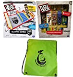 Tech Deck Bundle SLS Pro Series Skate Park, Sk8shop Bonus Pack (Style May vary)) and Bag