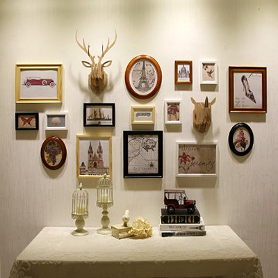 Hjky cornice set di legno all\' americana quadri da parete ...