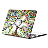 """Fintie MacBook Pro 15 Retina Case (NO CD-ROM Drive) - Ultra Slim Lightweight PU Leather Coated Plastic Hard Cover Snap On Case For Apple MacBook Pro 15.4"""" with Retina Display A1398, Love Tree"""
