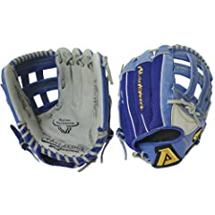 """11.25"""" pattern, Reptilian Design, B-hive web, serious high level youth glove was designed with the Akadema Grasp Clasp Wrist System. The Grasp Clasp locks the player's hand in the glove to ensure proper catching mechanics. The AOZ uses the sa..."""