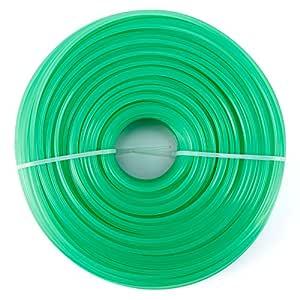 Anladia 100M Hilo de CortaCésped de Nilón Recambio de Segadora Tipos (3mm, Verde)