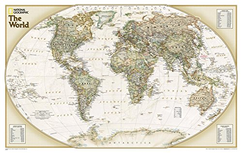 Map Laminated Explorer - National Geographic: World Explorer Executive Wall Map - Laminated (32 x 20 inches) (National Geographic Reference Map)