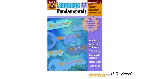 Language Fundamentals, Grade 4: Evan Moor: 9781596731646: Amazon ...