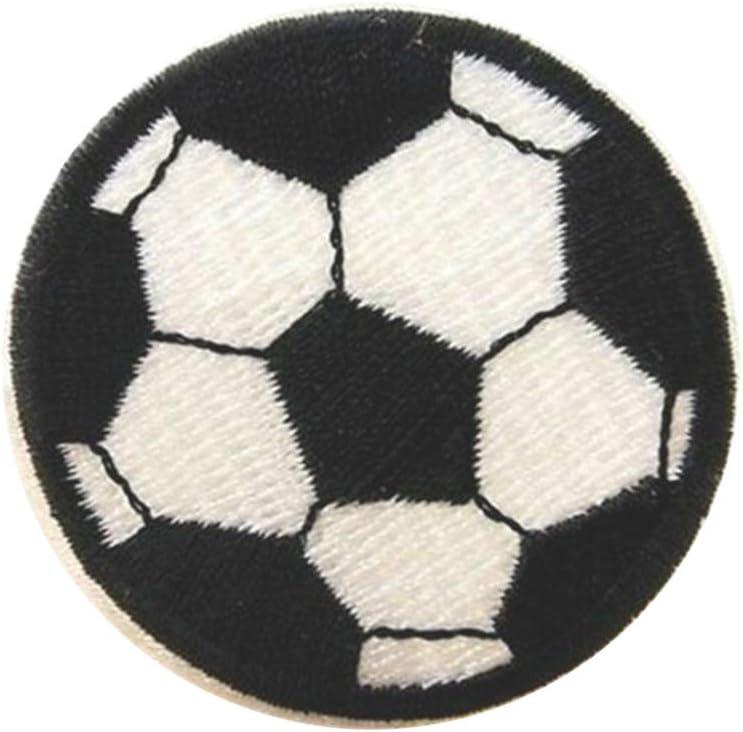doitsa 1x fútbol Badge bordado Patch plancha o de coser, bricolaje decoración pegatinas para bolsas mochila camiseta Jeans ropa Size 5* 5cm