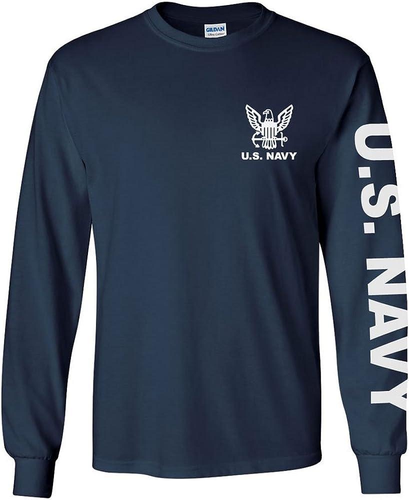 U.S. Navy long sleeve T-shirt. Navy Blue or Sports Grey