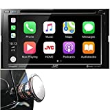 JVC Double DIN Bluetooth in-Dash DVD/CD/AM/FM Car Stereo Receiver w/ 6.8' Touchscreen LCD Display, Apple Car Play, Android Auto