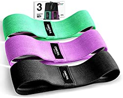 OMERIL Resistance Bands Set, 3 Packs Fabric Workout Bands with 3 Resistance Levels, Non-Slip Exercise Bands Elastic...