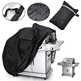Aphdite Grill Cover BBQ Grill Cover Large Wide Waterproof Gas Barbecue Grill Patio Protector Storage Bag (57'' -black)
