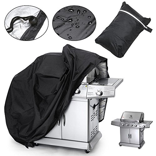 Aphdite Grill Cover BBQ Grill Cover Large Wide Waterproof Gas Barbecue Grill Patio Protector Storage Bag (57'' -black) by Aphdite