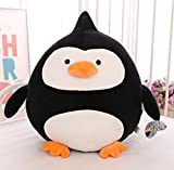 Pinjewelry Home Decoration Soft Toys Creative 40cm Plush Penguin Doll Penguin Plush Soft Toy Penguin for Kid Children Gift (Black)