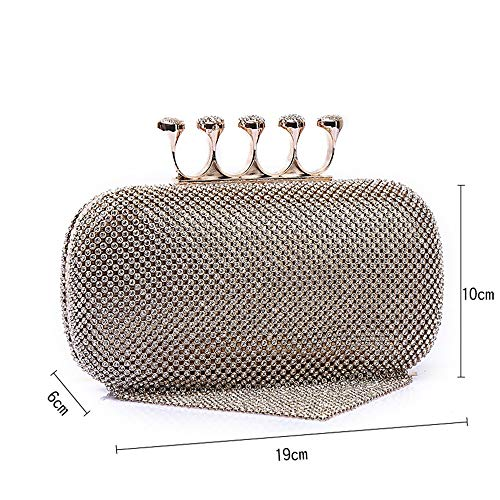 Hand Bag Clutch Lovely Wedding Pendant Lady Clutches Evening Purse Dress Gold Crystal Banquet Tassel Rabbit qxq8WwgBZ