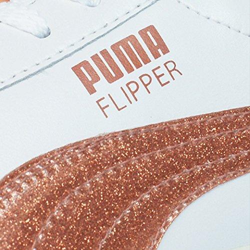 Puma Flipper Glitter femmes Cuir chaussures / Chaussures - blanc