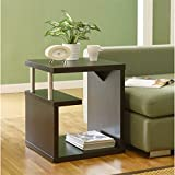 ioHOMES Level End Table, Espresso Review