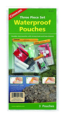 - Coghlan's Waterproof Pouches, 3-Piece Set