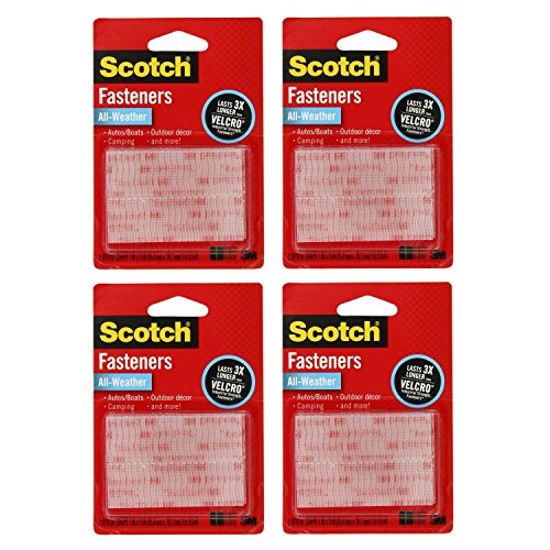 - 3M Scotch All-Weather EZPass iPass Fastlane Toll Fasteners, 8 Sets of 1 Inch x 3 Inches Strips, Clear (RFD7090)