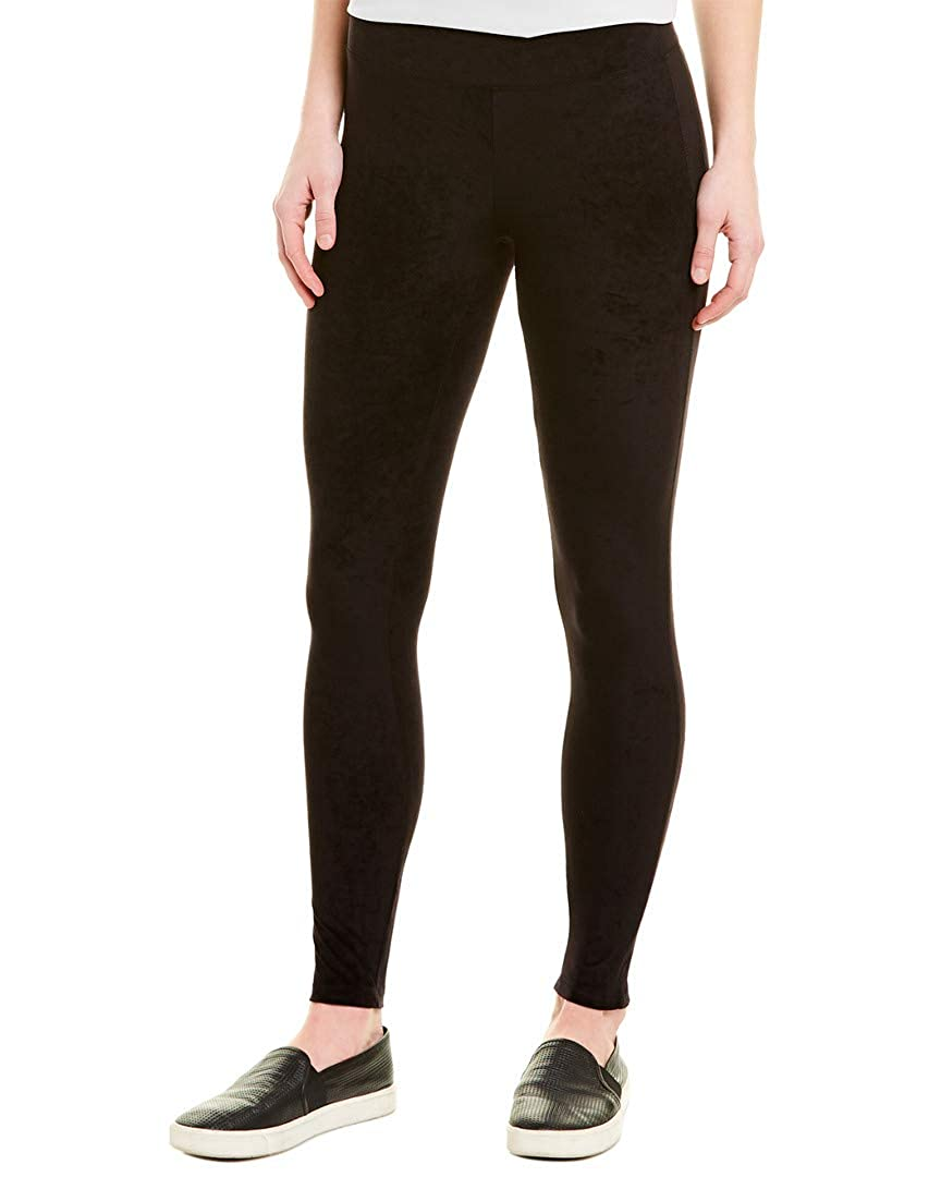James Perse Womens Mid-Rise Velvet Legging Black 2