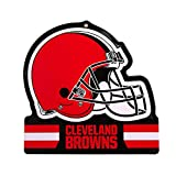 "Party Animal Cleveland Browns Embossed Metal NFL Helmet Sign, 8"" x 8"""