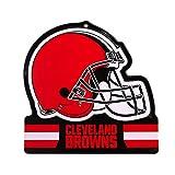 "Party Animal Cleveland Browns Embossed Metal NFL Helmet Sign, 8"" x 8"""