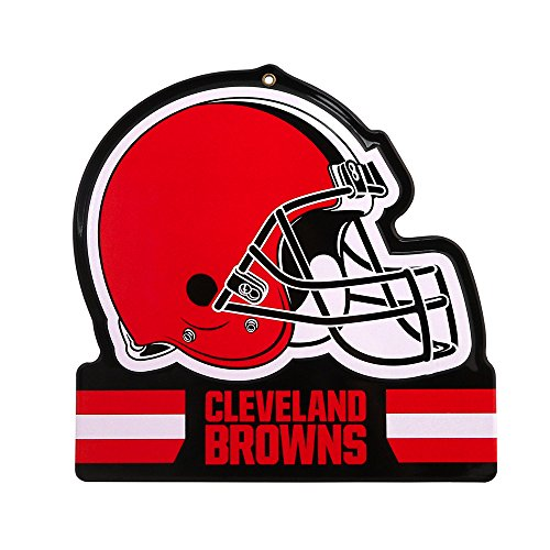 - Party Animal Cleveland Browns Embossed Metal NFL Helmet Sign, 8