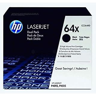 HP 64X | CC364XD | 2 Toner Cartridges | Black | High Yield