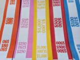 "150 currency straps/bands Straps/Bands make it easy to organize your bills. Straps/bands are 7 3/4"" x 1 1/4"" wide with self-sticking adhesive on each end."