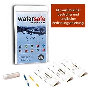 Trinkwasser Wassertest (10 versch. Tests in 1) mit deutsch/englisch ...
