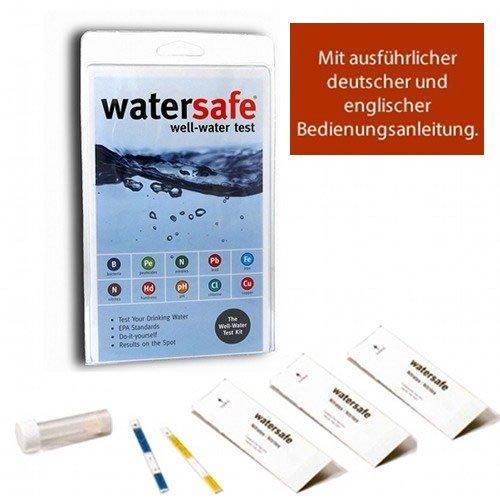 Watersafe Trinkwasser Wassertest (10 versch. Tests in 1) mit deutsch/englisch bedienungsanleitung