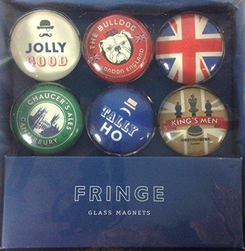 Fringe Set of 6 Glass Magnets - British Invasion