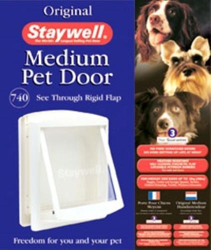 Amazon Staywell Original Pet Cat Dog Door Medium White Flap