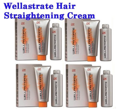 4 BOXES WELLA STRATE WELLASTRATE INTENSE STRAIGHTENER STRAIGHTENING HAIR CREAM FREE SHIPPING from ThaiTopTrade by Wella