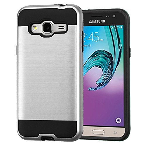 Shockproof Hybrid TPU Case for Samsung Galaxy Grand Prime (Black/Silver) - 8