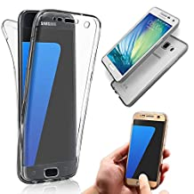 Galaxy A5 Case,Vandot Soft TPU Silicone Crystal Clear Ultra Slim 360 Degree Full Body Front & Back Protective Case Shockproof Anti-Scratch Cover for Samsung Galaxy A5 (2015)-Transparent Black