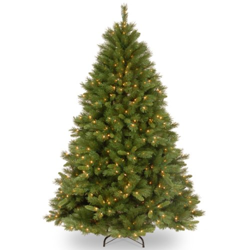 National Tree 7.5 Foot Winchester Pine Tree with 500 Clear Lights, Hinged (WCH7-300-75) (Christmas Trees)