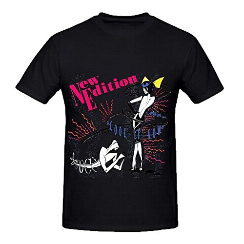 New Edition Cool It Now Tour Roll Mens Crew Neck Tee Black (Pinehurst Leather)