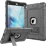 New iPad 9.7 2017 Case, CASY MALL Three Layer Heavy Duty Full Body Protective Case with Kickstand for Apple New iPad 9.7 Inch 2017 Model