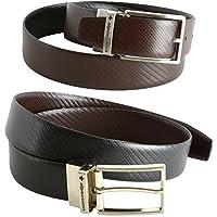 Alpine Swiss Men's Dress Belt Reversible Black Brown Leather