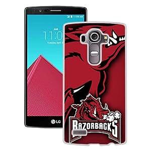 Fashionabe LG G4 Case ,Popular And Unique Designed Case With Southeastern Conference SEC Football Arkansas Razorbacks 2 White LG G4 Cover Phone Case