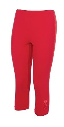 plus récent  Vente chaude 2019 Coline - Legging Court Femme - Couleur : Rouge - Taille : XL ...