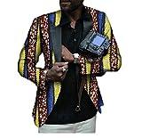 Winwinus Men Small Blazer Casual Floral Print Africa Oversized Suit Jacket 5 4XL