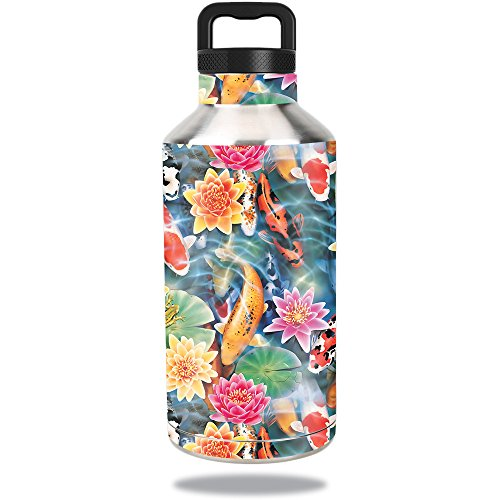 64 Oz Pond Water - MightySkins Skin for Ozark Trail Water Bottle 64 oz – Koi Pond | Protective, Durable, and Unique Vinyl Decal wrap Cover | Easy to Apply, Remove, and Change Styles | Made in The USA