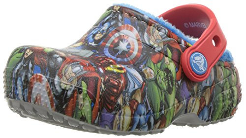 Crocs Boys' Crocsfunlab Lined Avengers Clog, Navy, 2 M US Little Kid
