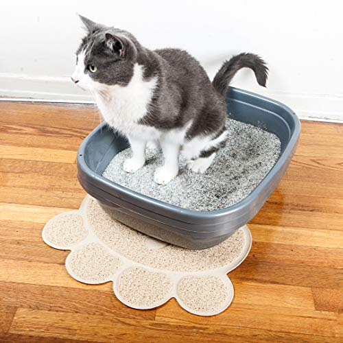 Pet Magasin Cat Litter Mat (2-Mat Set) - Soft and Durable Pet Litter Mats for Cats, Dogs, and Puppies - One Big (24.5'' x 16.5'') and One Small (15.5'' x 12.5)