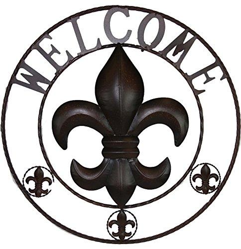 (LL Home Fleur-de-lis Welcome Circle )